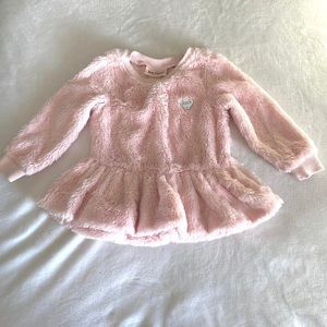 Juicy couture pink faux fur sweater